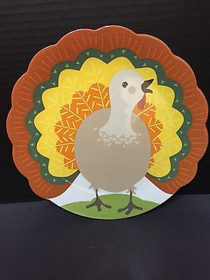 2016 Pottery Barn Kids Thanksgiving PLATE TURKEY Dining Kitchen Table Family NEW