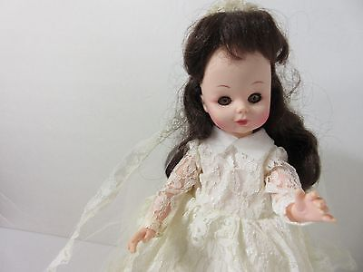 """Vintage Bride Doll With Lace Gown 14"""""""