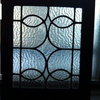 Antique Leaded Glass Window Door Original Hard Wear ~ RARE