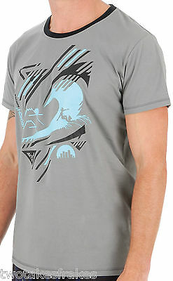 Mens Urban Beach Shift Casual Smart Sports Surf T Shirt Tee Tops Grey - GA0376