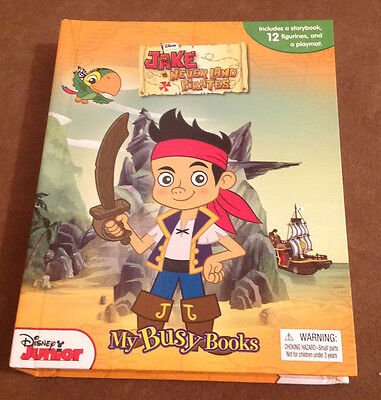 Jake And The Neverland Pirates Busy Book + 12 Figurines & Playmat