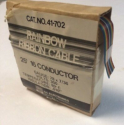 16 Conductor Ribbon Cable (Color Coded)  25ft