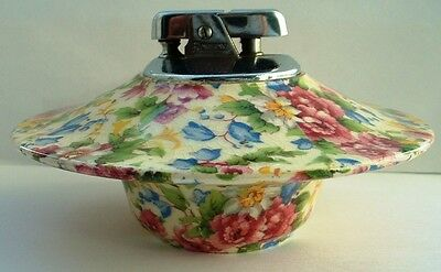 Rare Vintage Royal Winton Cheadle Chintz Table Lighter