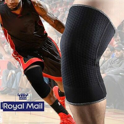 Black Elastic Brace Knee Support Pad Protector Sport Breathable Running Cycling