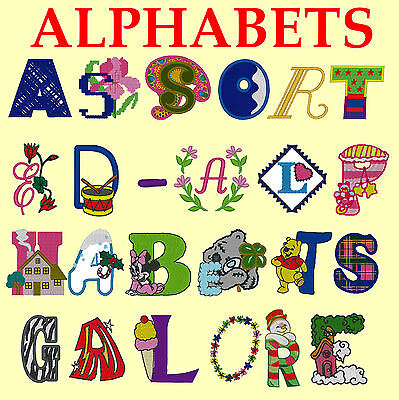 150+ Different Folders Alphabet, Monogram, Fonts Pes, Embroidery Machine,on A Cd