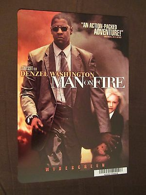 MAN ON FIRE movie backer card (this is NOT a movie) DENZEL WASHINGTON