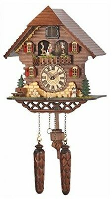 Quartz Cuckoo Clock Black Forest House With Music, Turning Dancers, Incl. TU