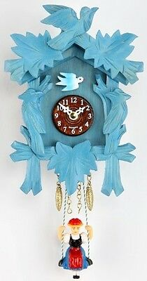 Kuckulino Black Forest Clockwith Quartz Movement And Cuckoo Chime, Blue, Incl.