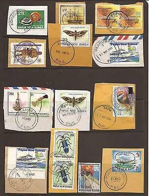Papua New Guinea. Selection Of Postmarks Used On Piece.