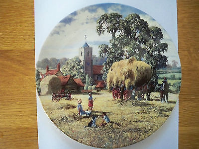 'hay-Making' Danbury Mint June Plate From 'the Farm Year' Wedgwood Unboxed