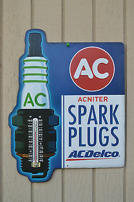 AC Delco Sign w/Therometer New *Still Shrink Wrapped *Collectible*  - ManCave -