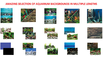 Seaview Quality Aquarium Fish Tank 18'' Tall Background Range Picture Backing