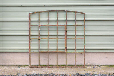 old vintage Victorian cast iron metal window frame