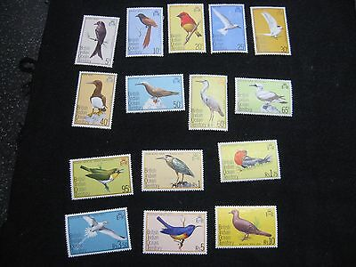 British Indian Ocean Territory: 1975 Birds  Set of 15 MM