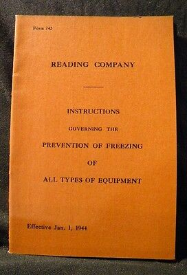 Reading Company Prevention of Freezing of All types of equipment 1944