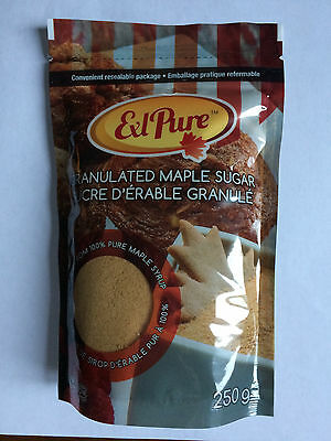 Natural Granulated Maple Sugar Made From 100% Pure Canadian Maple Syrup 250 g