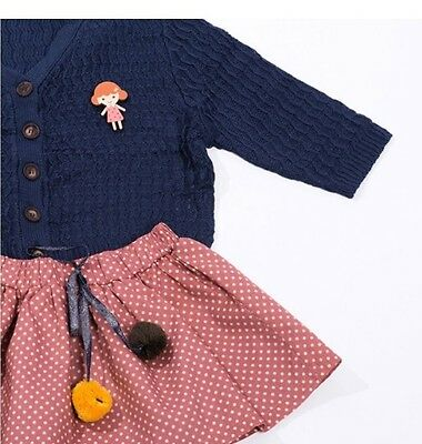 NWT Baby Girl Bloomi Navy Sweater Size 4