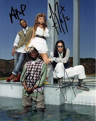 Black Eyed Peas, Fergie, Will I Am, Taboo, Apl.de.Ap signed 8x10 photo with COA