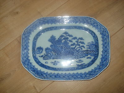 chinese 17th century period blue white plate