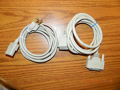 IEEE-1284 Bi-parallel cable and power cable for HP LaserJet Series ii Printer