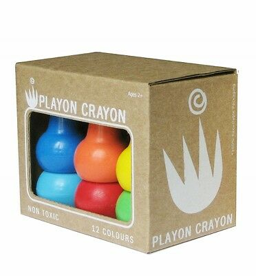 Two x Playon Crayons PRIMARY BOLD COLOURS - Baby Kids Crayon - 2 x 12 Per Box