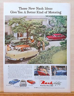 1952 magazine ad for Nash - Statesman, Rambler, Ambassador in color photo