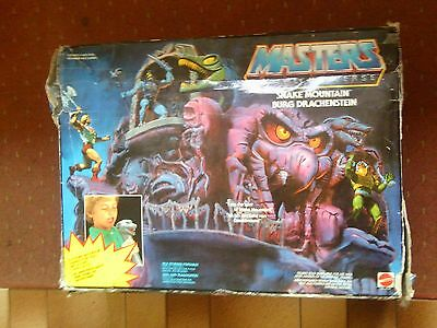 Vintage Original He Man Masters Of The Universe Figures Snake Mountain Boxed.