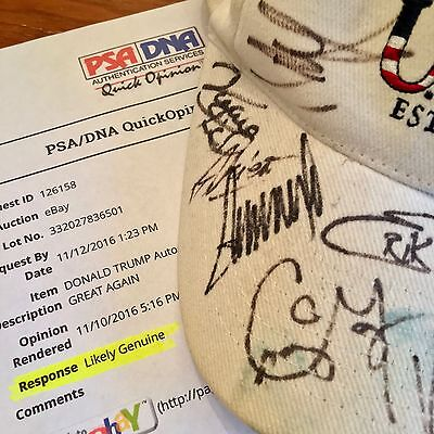 DONALD TRUMP * PSA/DNA * Autograph USA HAT + Celebs Signed * MAKE AMERICA GREAT