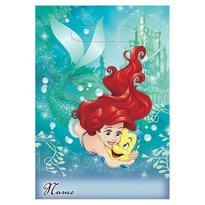 The Little Mermaid Party Supplies Ariel Loot Bags 8 Pack Birthday Treat Favour