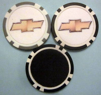 LOT of 2 Chevrolet Chevy Car Truck SUV Poker Chip Magnets Locker Refrigerator