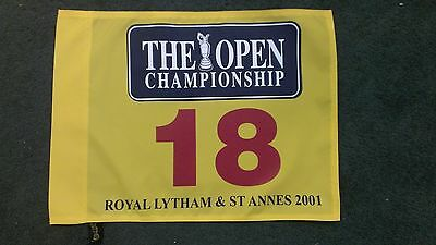 2001 BRITISH OPEN golf flag DAVID DUVAL  won! ROYAL LYTHAM &ST.ANNES