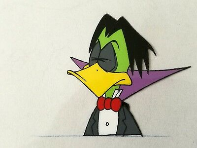 3x Original Count Duckula Production Animation Art Cels & Pencil Drawings Retro