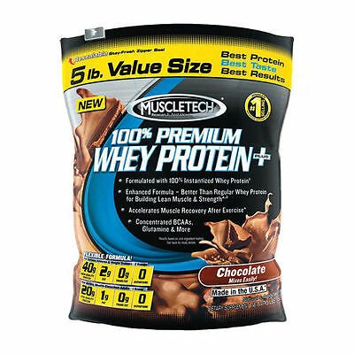 Muscletech 100 % Premium Whey Protein 2.27Kg Chocolate 70 Servings Free Tracked