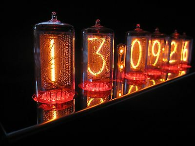 PV Electronics Spectrum Nixie clock +Z566M Tubes Stainless Steel case PSU (2of2)