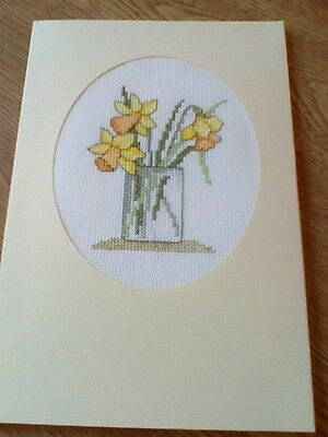 completed cross stitch card xlge