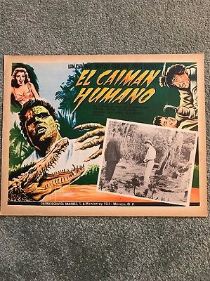 The Alligator People Original Mexican Lobby Card 1959 Horror Sci-fi