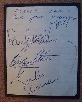 Beatles Autographs 1964 authenticated by Caiazzo