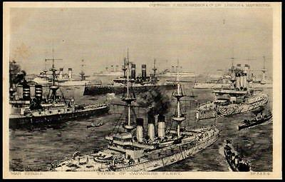 Japan Postcard - Types of Ships in the Japanese Fleet  - War Series 5224