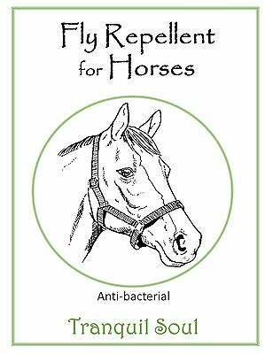 Fly Repellent Spray for Horses - All Natural Ingredients 1Lt
