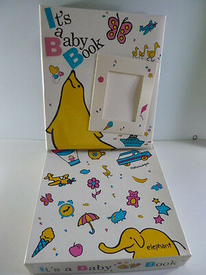 VTG NOS 1988 It's A Baby Book Cutest Ever Graphics Whim Wham Book Notebook Style