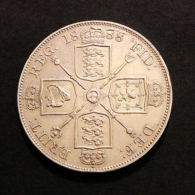 Queen Victoria 1888 Double Florin British Silver Coin