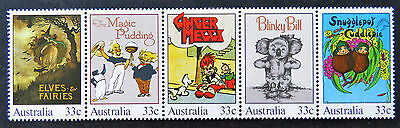 Australian Decimal Stamps:1985 Australiana-Classic Children's Books-Set of 5 MNH