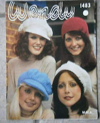 Wendy Vintage knitting and crochet  pattern lady's hats