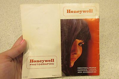Vintage Camera manual Honeywell Photographic B&W and Color Pentax Instructions