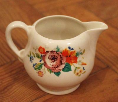 Attractive CLARICE CLIFF Royal Staffordshire pottery FLORAL pattern CREAM JUG