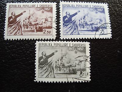 ALBANIE - timbre yvert et tellier n° 479 a 481 obl (A33) stamp albania