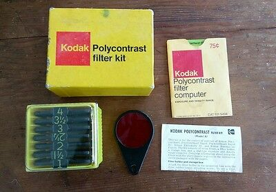 KODAK VINTAGE POLYCONTRAST FILTER KIT MODEL A in ORIGINAL BOX - DARKROOM FILTERS