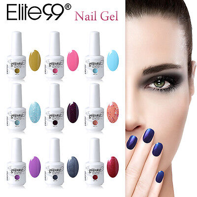 Elite99 177 Colours Soak Off Gel Nail Polish UV LED Lamp 15ml Top Coat Primer