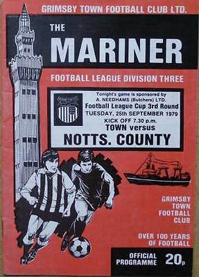 Grimsby Town v Notts County FL Cup 1979/80