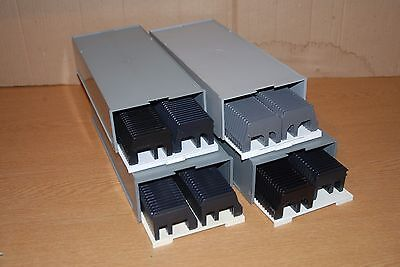 8x Photographic 35mm Slides Storage Slide Magazines in stackable cases